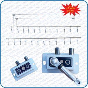 Giàn Phơi Thông Minh Hòa Phát Model 7 bộ tời tay quay rời